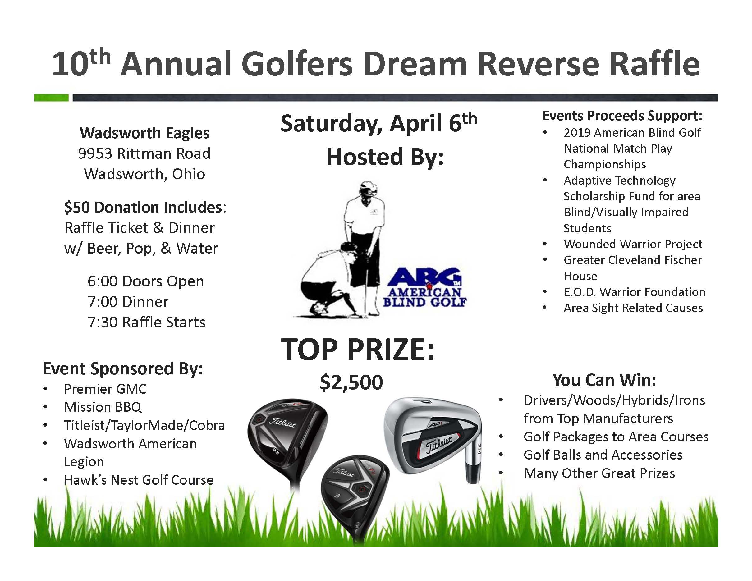 Picture of the 2019 Raffle Flyer
