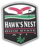 Logo of Hawk's Nest Golf Course & link to their website